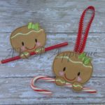 Ginger Bread Candy Cane Pencil Holder