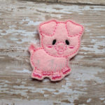 Piper Pig Feltie Embroidery Design