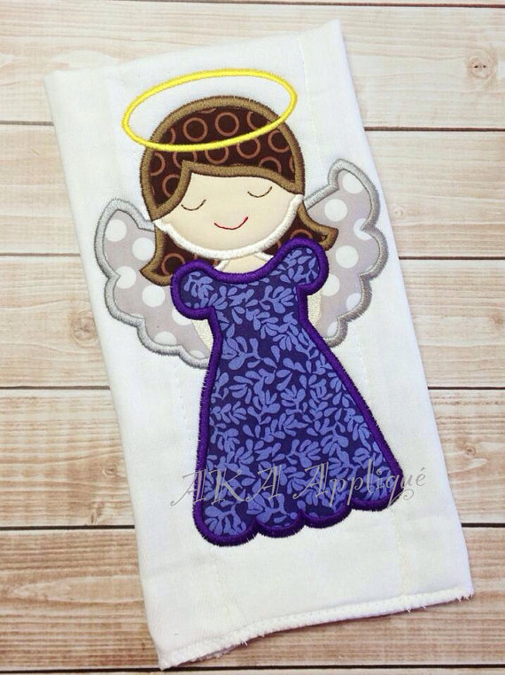 Anslee Angel Applique Embroidery Design Aka Applique