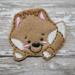 Sly Fox Feltie Embroidery Design