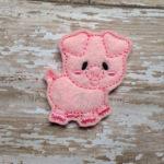 Piper Pig Feltie Embroidery Design